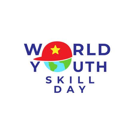 Logo Design for celebrating World Youth Skills Day in Vector Illustration.