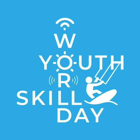 Design for celebrating World Youth Skills Day in Vector Illustration.