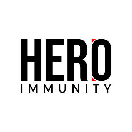 Heard immunity logo icon for New normal lifestyle concept.