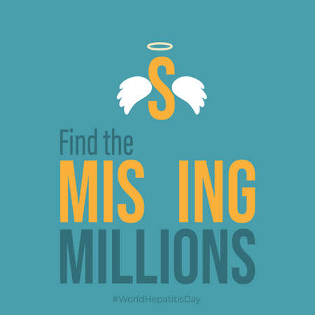 Vector illustration of World Hepatitis Day with fin the missing millions concept.