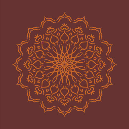 Mandala colorful vintage art, ancient Indian vedic background design, old painting texture with multiple mathematical shape,