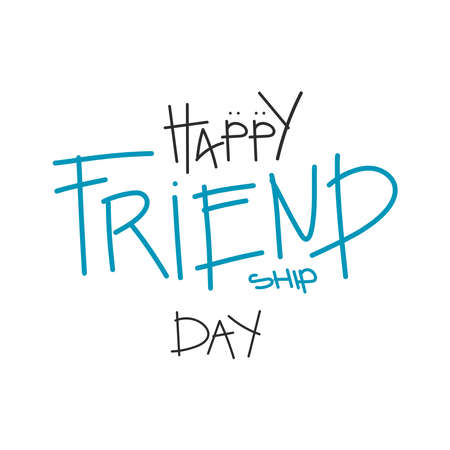illustration Design for celebrating Friendship Day, International Day of Friendship vector