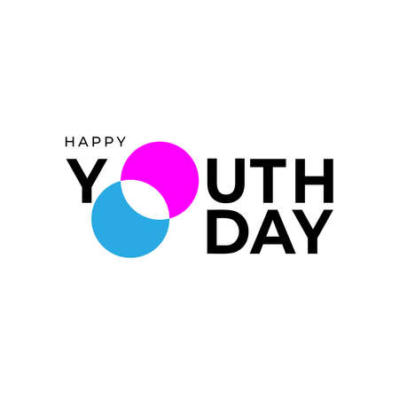 Illustration design for celebrating youth day event. poster design