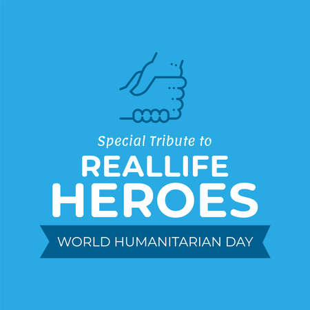Vector illustration on the theme of World Humanitarian day observed each year on August 19th worldwide. Vecteurs