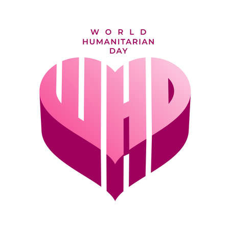 Vector illustration on the theme of World Humanitarian day observed each year on August 19th worldwide.
