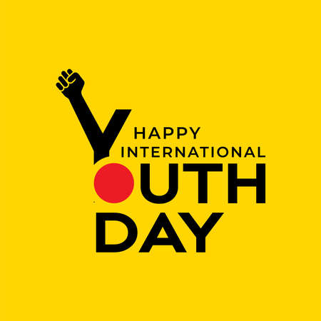 Design for celebrating International youth day event. August 12. Campaign vector illustration with youth engagement for global action theme Ilustração