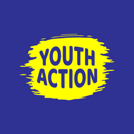Design for celebrating International youth day event. August 12. Campaign vector illustration with youth engagement for global action theme 矢量图像
