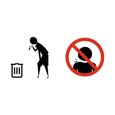 Forbidden spit icon can be used for web, logo, mobile app, UI, UX. vector file Иллюстрация