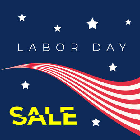 USA happy Labor day text design for advertising template. Vector illustration