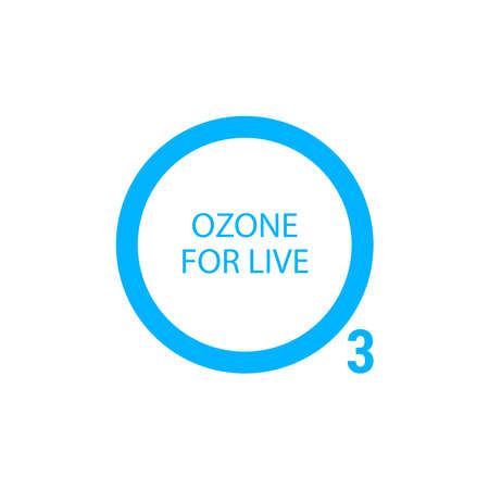 Design for International Day for the Preservation of the Ozone Layer . world ozone day. 16 September Vettoriali
