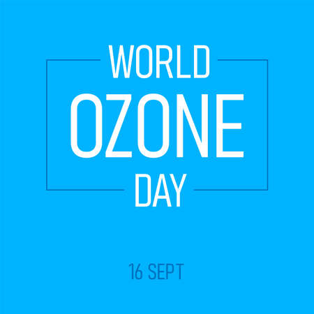 Design for International Day for the Preservation of the Ozone Layer . world ozone day. 16 September