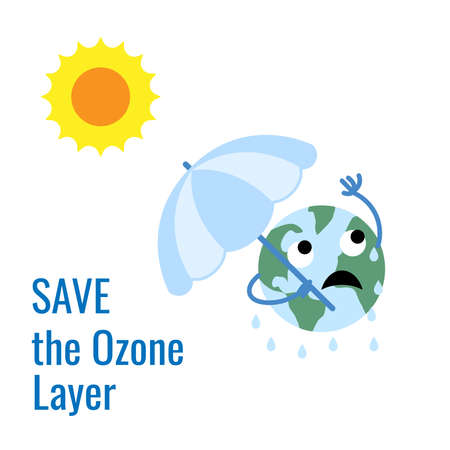 Design for International Day for the Preservation of the Ozone Layer . world ozone day. 16 September Stock fotó - 155169956