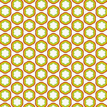 Seamless pattern made from any geometrical shape for creative design background. illustration Imagens