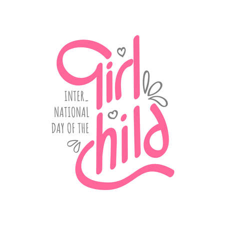 Design for celebrating International Day Of The Girl Child, October 11th in vector illustration Vectores