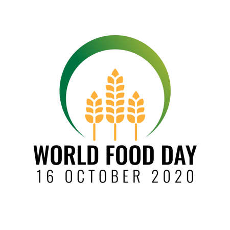 World Food Day illustration vector is suitable for social media, banner , poster , Flier and related with food. vector illustration Ilustracja