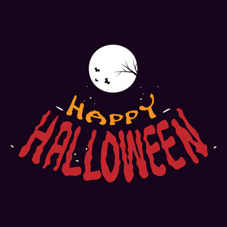 Happy Halloween banner. Handwritten lettering, calligraphy vector illustration.