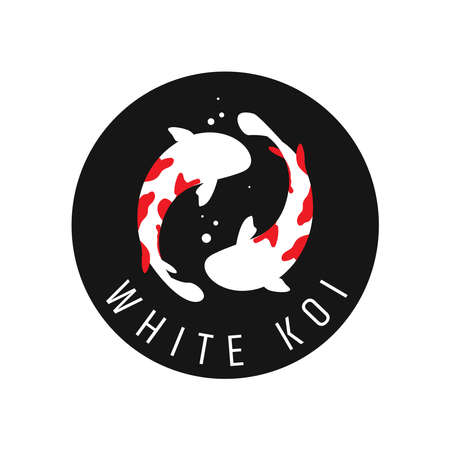 Japanese Koi Template. Koi Fishes . Luck, prosperity and good fortune. Animal, asian. This perfectly used for any fishing or aquarium related businesses.