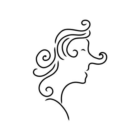 Abstract line drawing of human face. Modern line art man and woman portrait, minimalist contour. Vector Abstract minimal face line art for t-shirt, slogan design print graphics style. Great for home decor such as posters, wall art, tote bag, t-shirt print, mobile case. Vector