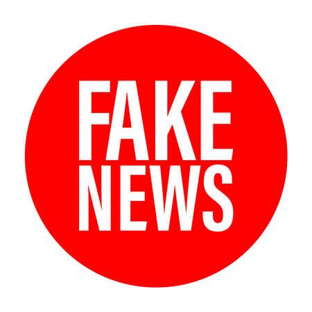 a logo design about Fake News, Fake news logo, fake news tag, vector illustration