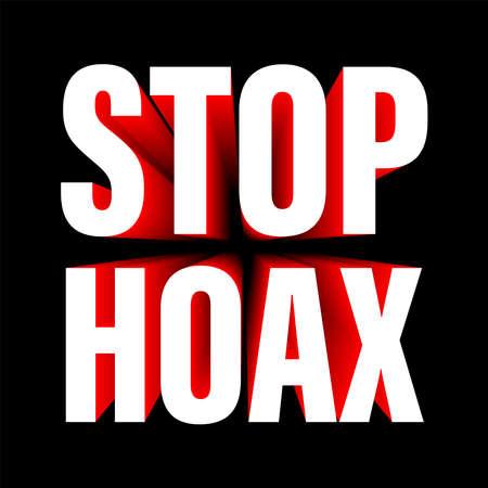 a logotype or typography about hoax, fake news icon, hoax icon Illusztráció