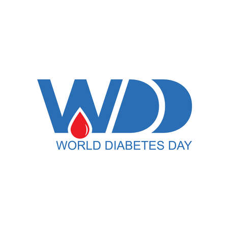 World diabetes day awareness design with blue color for poster, website, or any design. Vector illustration