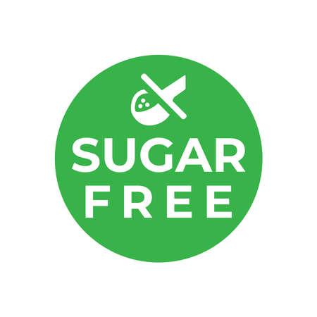 Sugar free badge, logo, icon. Flat vector illustration on white background.