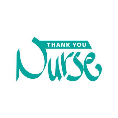 Thank you nurse. World diabetes day awareness design respect to nurse concept. vector illustration