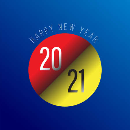 2021 Happy New Year logo text design for greeting card, calendar or any design. 2021 number design template. modern and futuristic 2021 happy new year symbols. Vector illustration