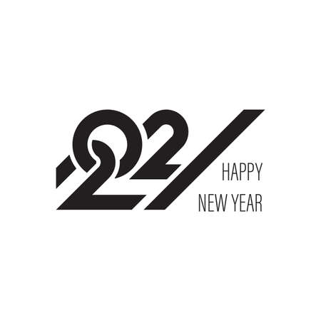 2021 Happy New Year logo text design for greeting card, calendar or any design. 2021 number design template. modern and futuristic 2021 happy new year symbols. Vector illustration Ilustração