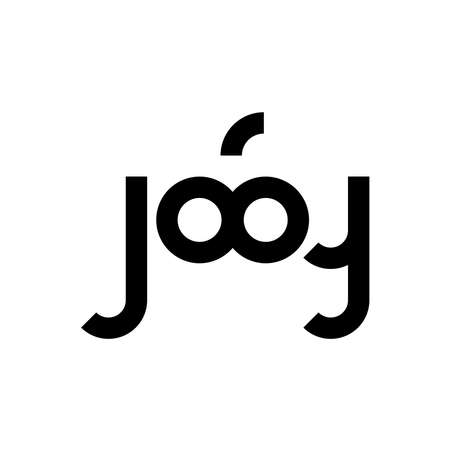 logotype about joy with infinity symbol in vector Ilustração