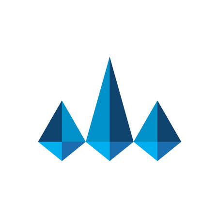 Abstract Delta Triangle for business, or financial logo Firm Logo or any industry in vector