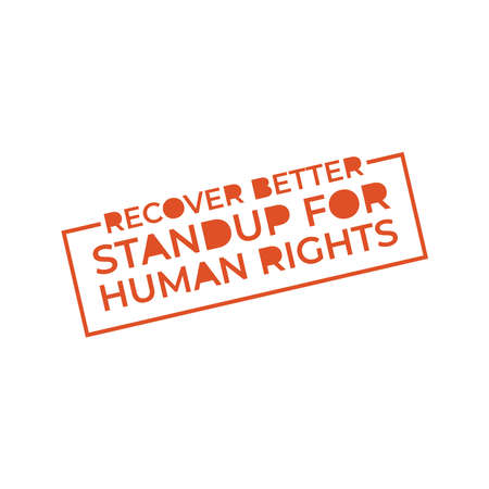 Design for celebration the Human Rights Day with recover better - stand up for human right theme. Web banner for social equality.