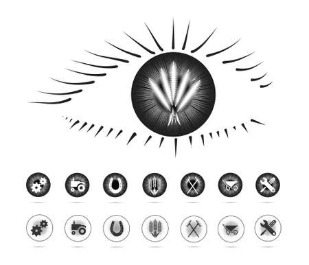 agriculture symbols in the eye(eye series)