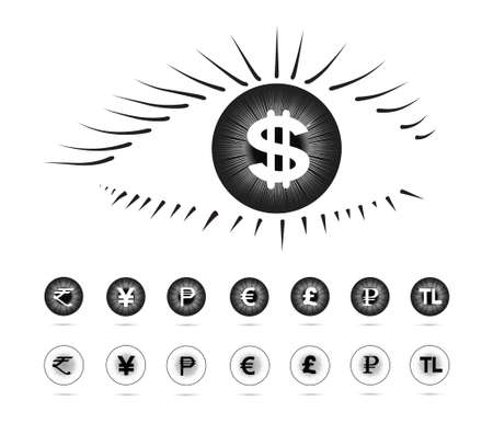 Currency symbols in the eye(Eye series)
