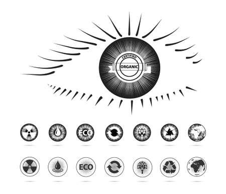 environment symbols in the eye(eye series) Illustration