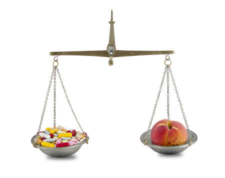 pill and fruit