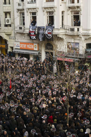 Ä°stanbul,Turkey,January 19,2011-Thousands of people gathered to commemorate Hrant Dink