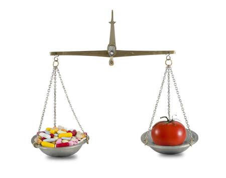 pills and tomato