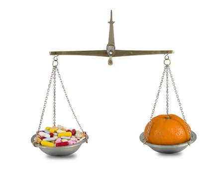 pill and mandaline ( pill series 7 ) Stock Photo