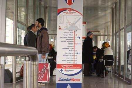 ıstanbul,turkey,february 02,2011-Passengers waiting the subway ,istanbul Editorial