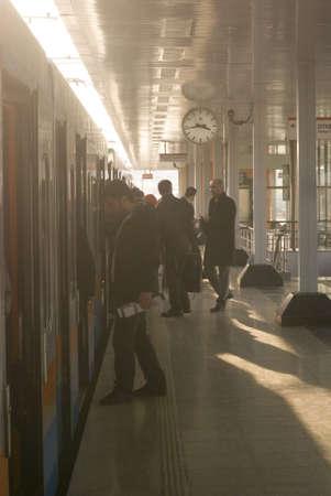 ıstanbul,turkey,february 02,2011-Passengers entering the subway ,istanbul Editorial