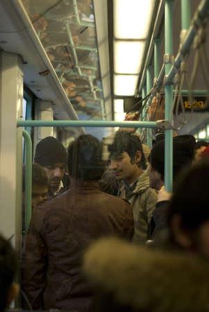 ıstanbul,turkey,february 02,2011-Passengers traveling the subway ,istanbul