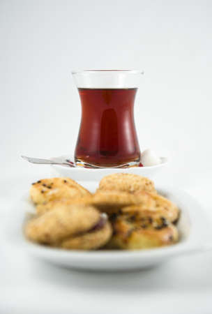 tea cup and cookies