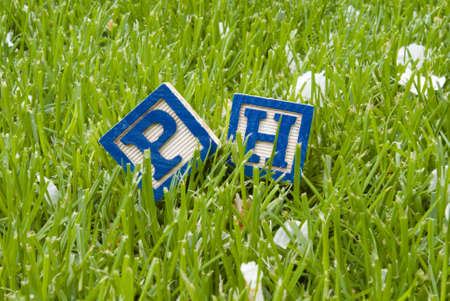 Ph symbols on the grass