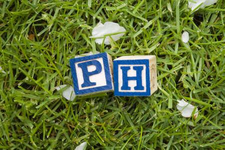 Ph symbols on the grass