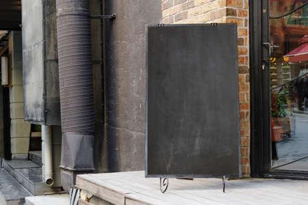 Empty black board ( cafe menu board)