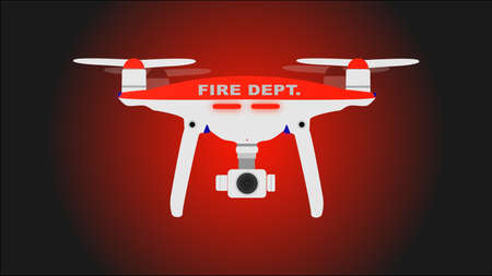 Fire dept. photo and video drone icon. Vector illustration. Illustration