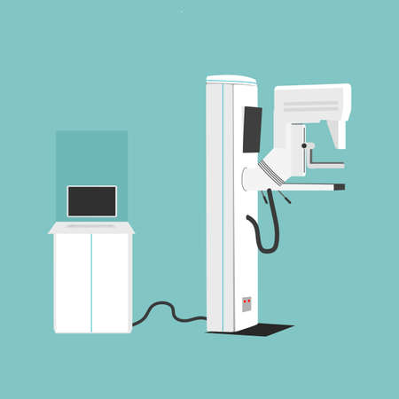 Mammography Machine Vector Illustration. Woman s Diagnostics and Health concept  イラスト・ベクター素材