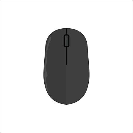 Computer Mouse Icon. Eps 10 illustration. Flat Design