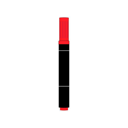 Vector Image of Red Marker on a White Background 向量圖像